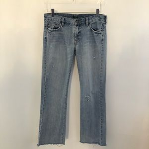 J Crew Hip Slung Raw Hem Straight Leg Jeans 4